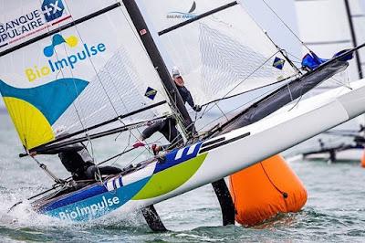 Quentin Delapierre et Manon Audinet terminent 4ème au championnat du monde en Nacra 17