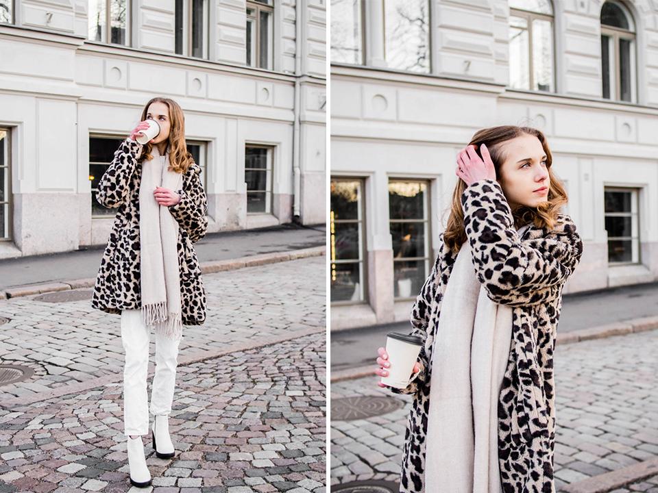 Neutral style winter outfit - Talvimuoti, neutraalit värit, muotiblogi, Helsinki