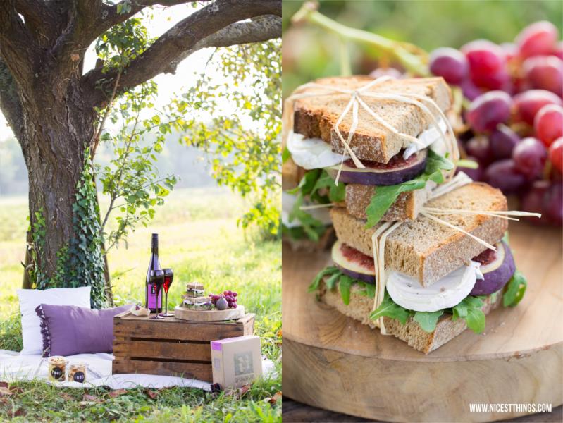 Herbst Picknick Rezepte Ziegenkäse Feigen Sandwiches