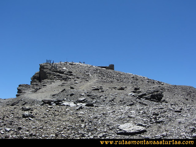 Ruta Hoya de la Mora - Veleta: Llegando a la cima