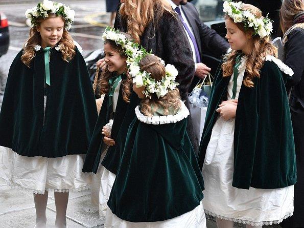 Queen Maxima wore ELIE-SAAB Cotton blend Lace Dress. Princess Beatrice wore Burberry Crochet appliqué cotton trench coat