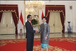 Presiden Jokowi Titipkan PMI di Hong Kong kepada Chief Executive Carie Lam