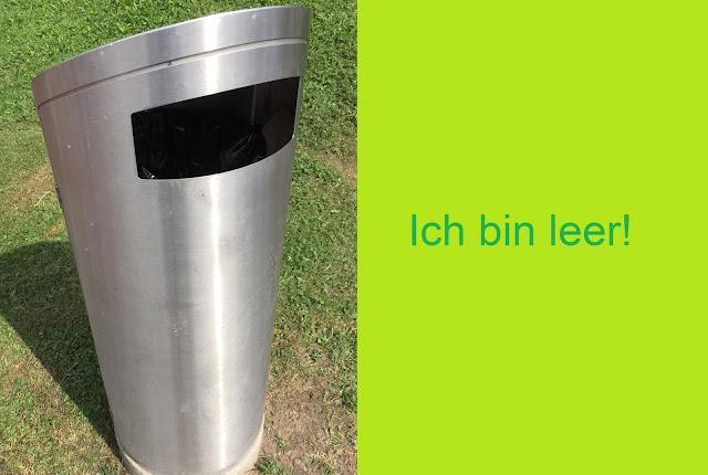 Abfalleimer unbenutzt aus Metall