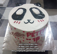 Kue Tart Kepala Panda