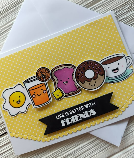 Sunny Studio Stamps: Breakfast Puns Customer Card by Linsey