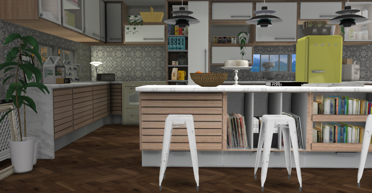 My Sims 4 Blog C Series Kitchen Set By Minc78