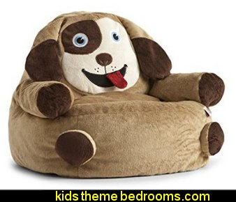 Bean Bag Dog Armchair  treehouse theme bedrooms - backyard themed kids rooms - cat decor - dog decor - bugs and critters theme bedrooms - camping theme bedrooms - Happy Camper little boys outdoor theme bedroom - tree wall decal - dog wall decal stickers - treehouse bed - girls treehouse theme bedrooms - camping room decor - camping theme room