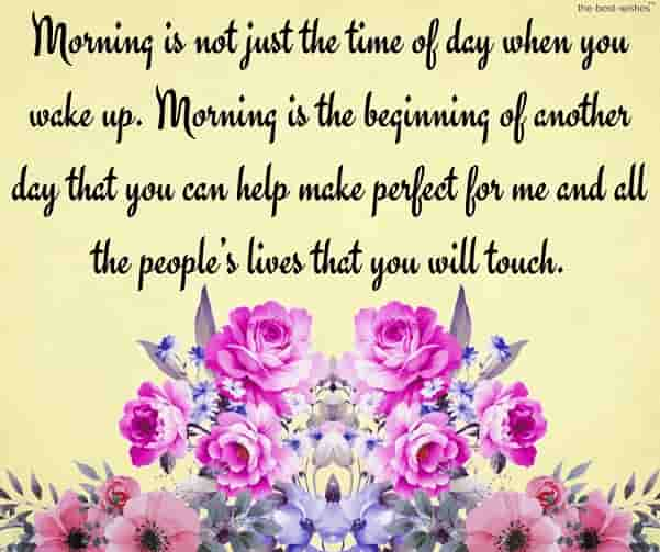 good morning love quotes for her with bouquet
