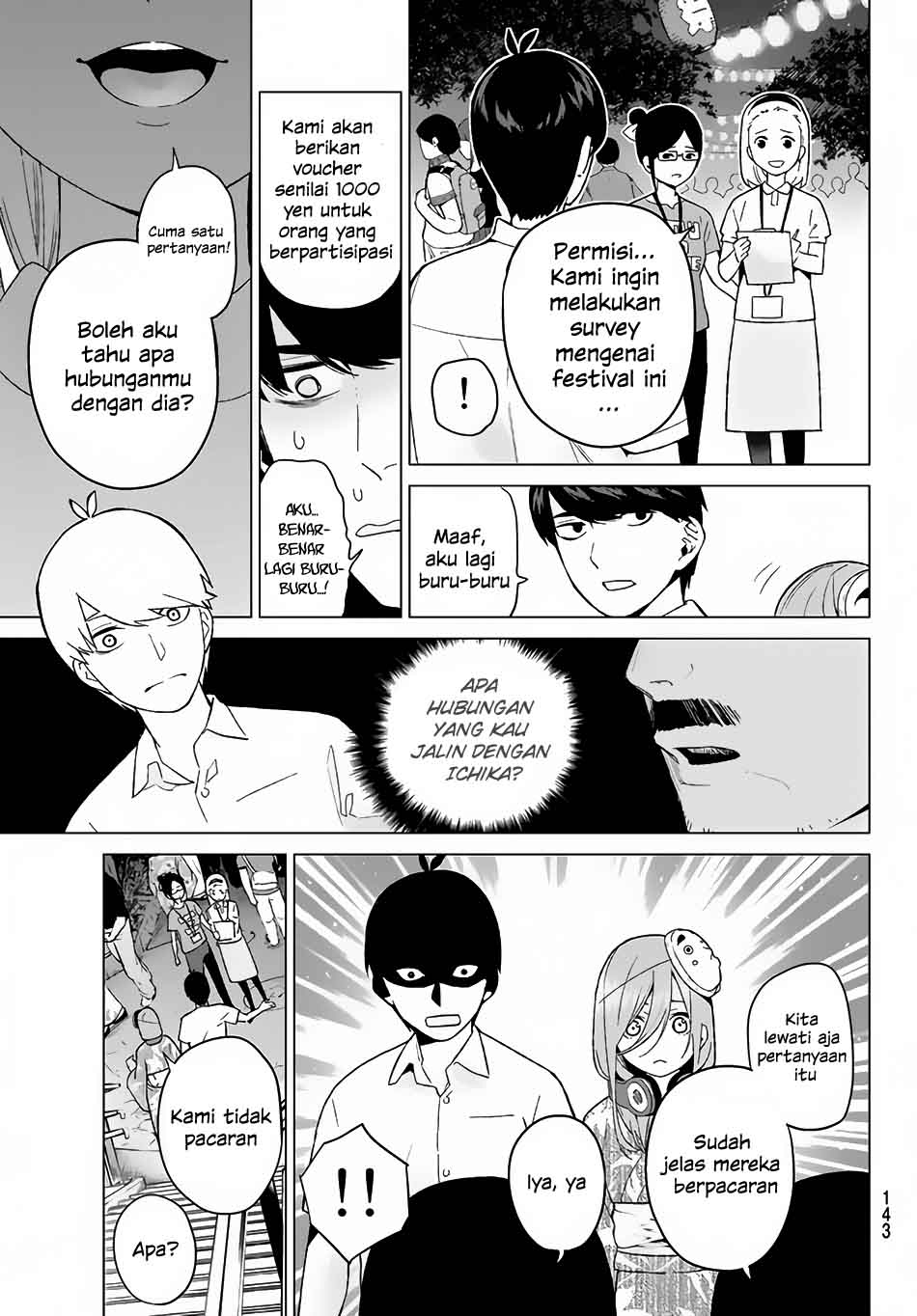 Manga Go-toubun No Hanayome Chapter 9 Bahasa Indonesia
