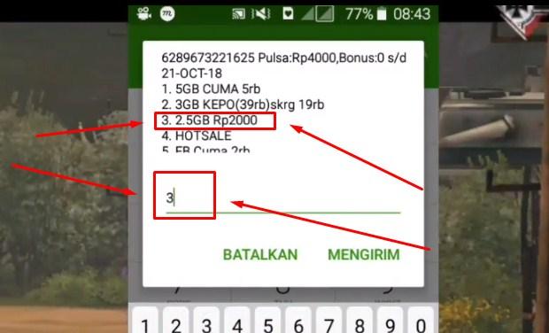 Daftar Paket Internet Tri 2.5GB Rp 2.000 Terbaru 2019 ii