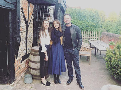 Troian Bellisario and Patrick J Adams at The Royal Standard of England pub