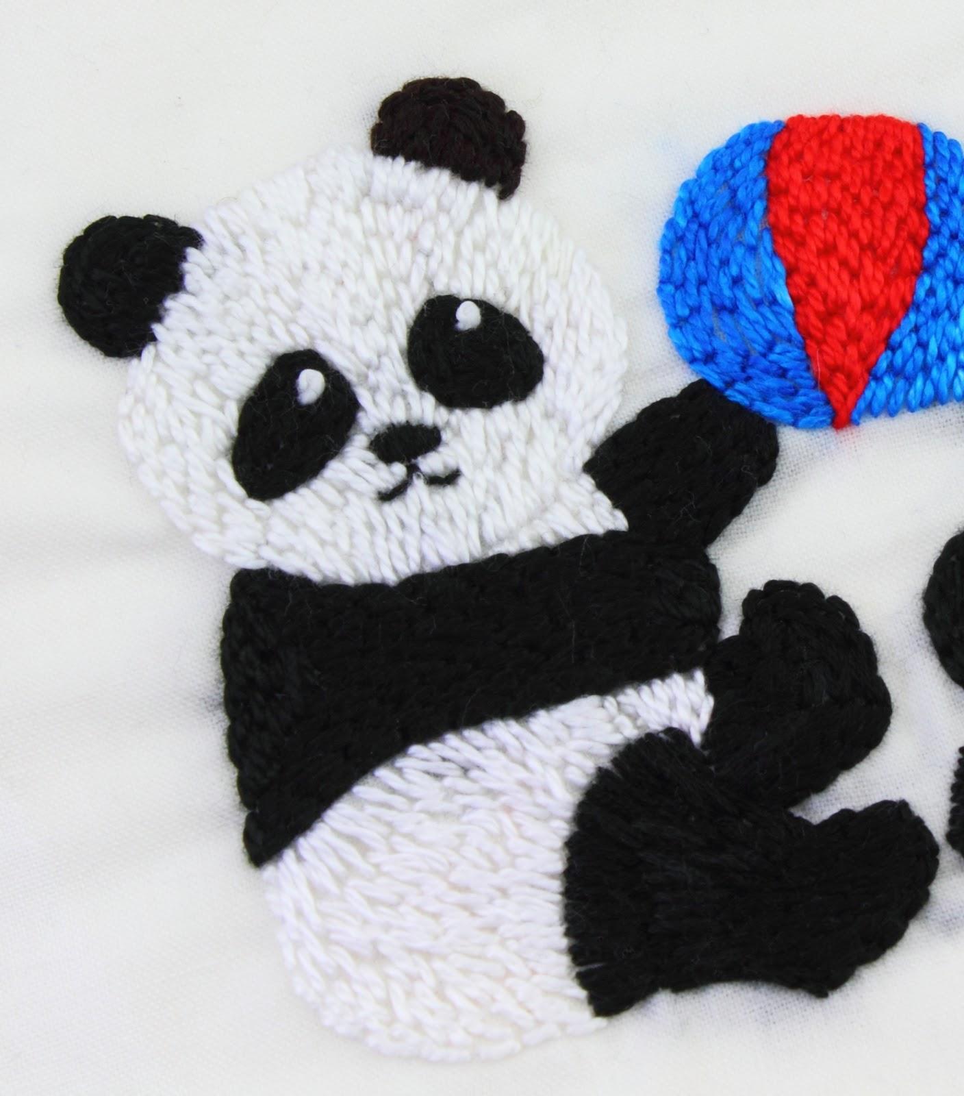 big B: Panda Embroidery Pattern