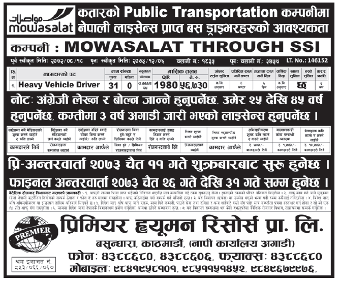 Jobs in Qatar for Nepali, Salary Rs 56,730