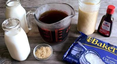 nguyên liệu làm món kem cafe dừa