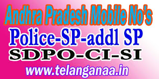 Kurnool District Police Officers Mobile Numbers AP State