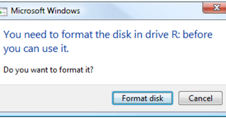 how to open raw drive without formatting
