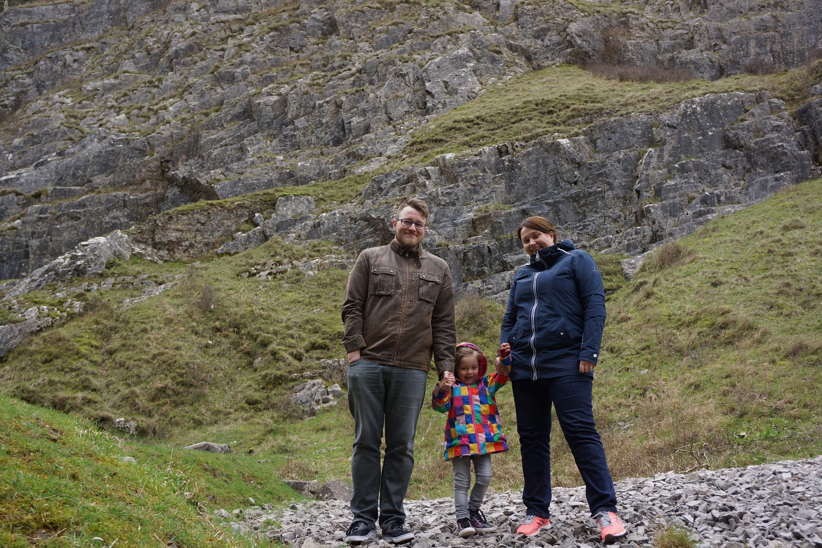 Family picture at Cheddar Gorges