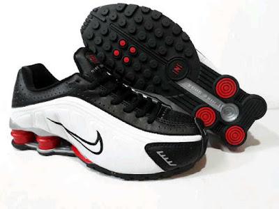 Sepatu Nike Shock For Men (Import) White Mix Black