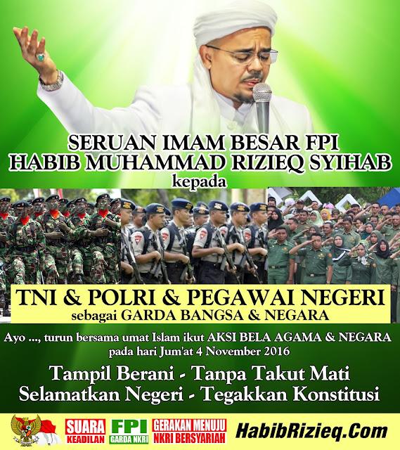 4 November Demo Besar-Besaran, Habib Rizieq Ingin Sekolah dan Kantor DiLiburkan