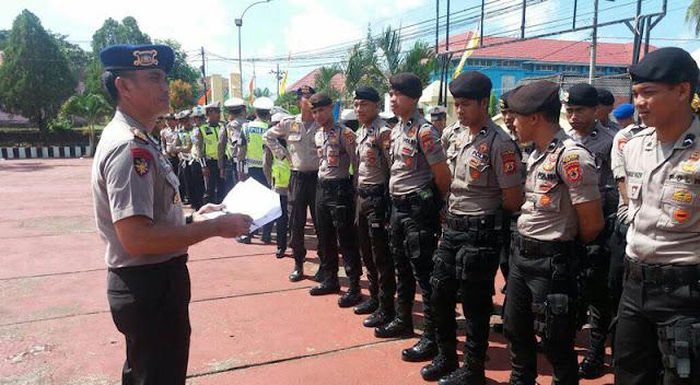 Polres Sinjai Gelar Apel Persiapan Pengamanan Konvoi TMS