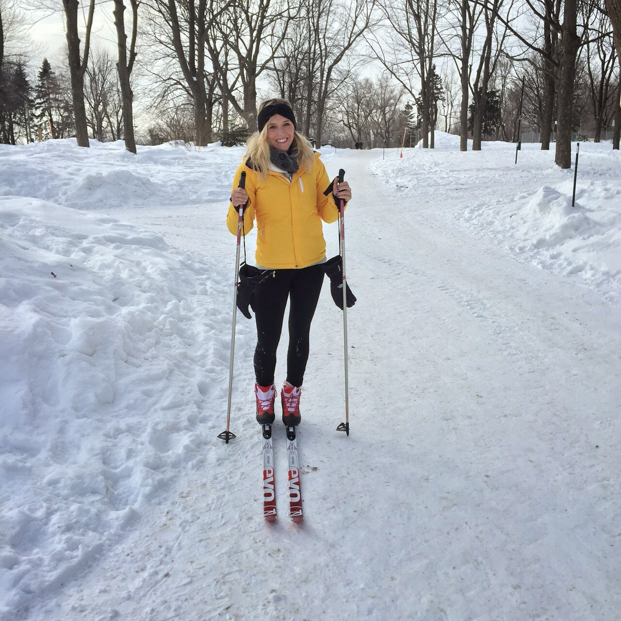 the north face yellow ski jacket
