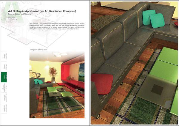 設計作品集空間設計,梁又文老師設計