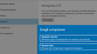 Come fare il reset di Windows 10 e cosa significa