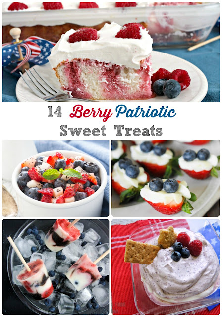 Celebrate our nation's independence all summer long with these 14 Berry Patriotic Sweet Treats.