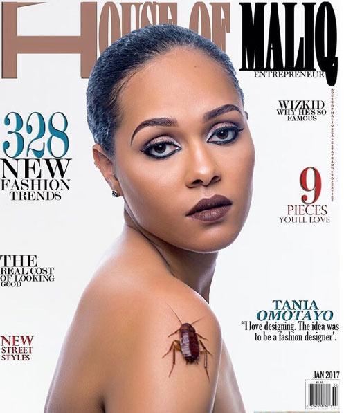 Tania Omotayo covers January 2017 issue of House of Maliq Magazine