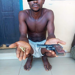 Armed Robber Who Specializes In Robbing Bank Customers Caught In Bayelsa State