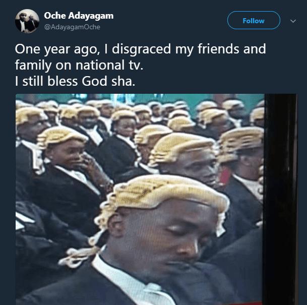 Nigerian Lawyer Sleeping tweet