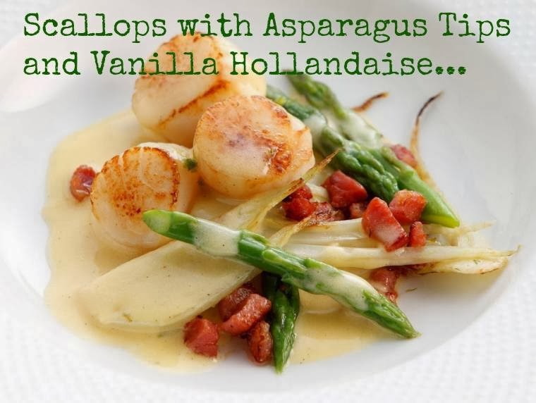 How To Make Scallops with Asparagus Tips and Vanilla Hollandaise: