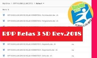 RPP Kelas 3 Kurikulum 2013 Revisi 2018 Semester 1 Tema Perubahan Alam
