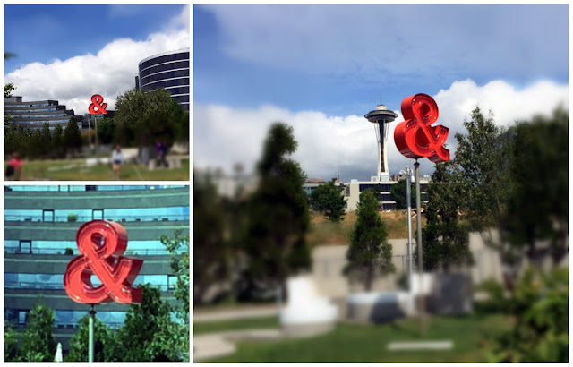 ampersand sculpture Seattle Olympic Park