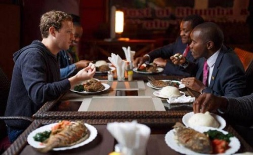 Facebook Lord, Mar Zuckerberg Eats Local African Dish On Visit