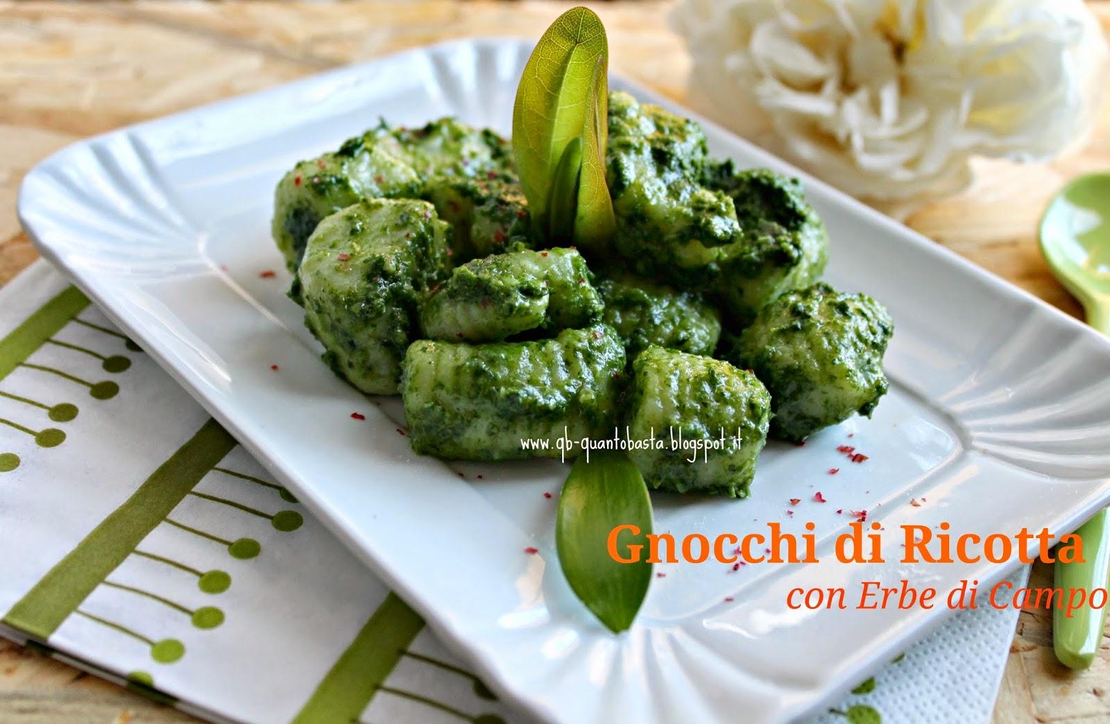 www.qb-quantobasta.blogspot.it - Gnocchi di ricotta con erbe di campo