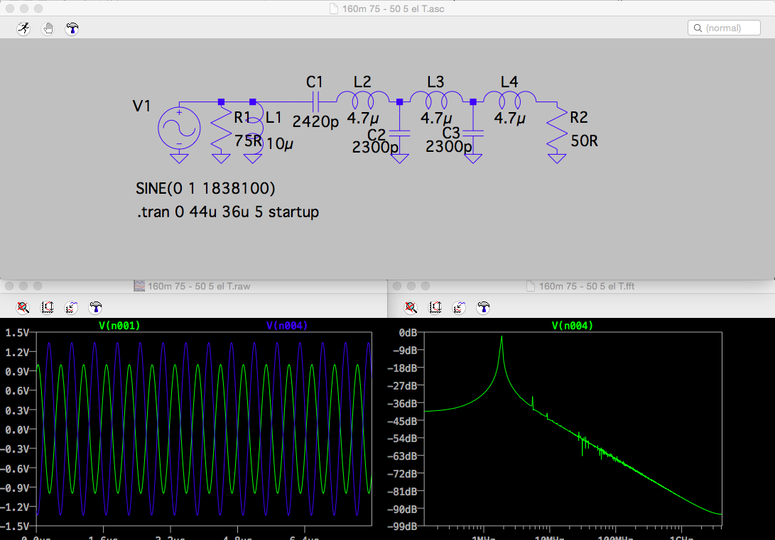 Marxy S Musing On Technology Qrp Low Pass Filters With Surface Mount On Veroboard