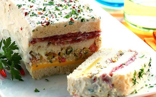 Receita de sanduíche de salame em camadas (Imagem: Reprodução/Itaporã News)
