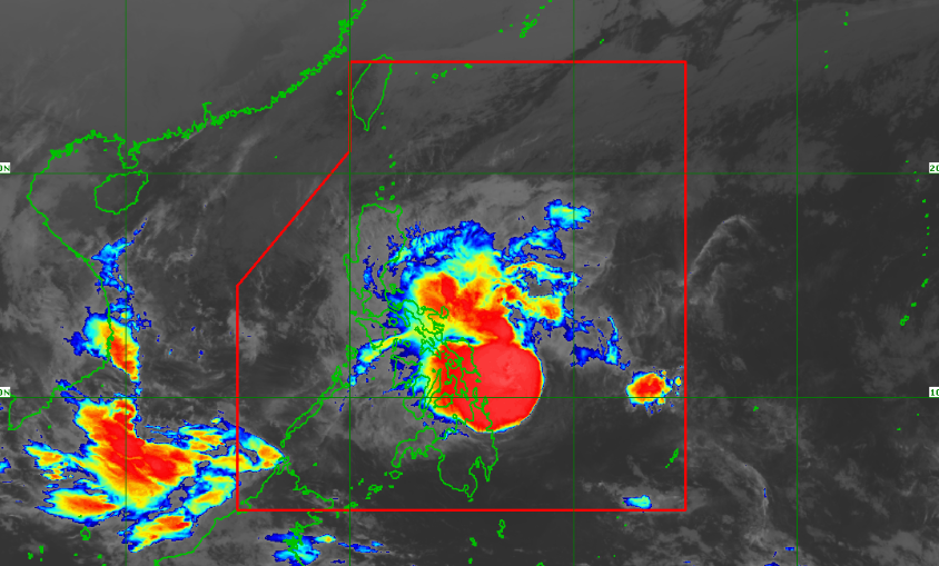 Satellite image of Tropical Depression Usman as of 7:40 am, December 28.