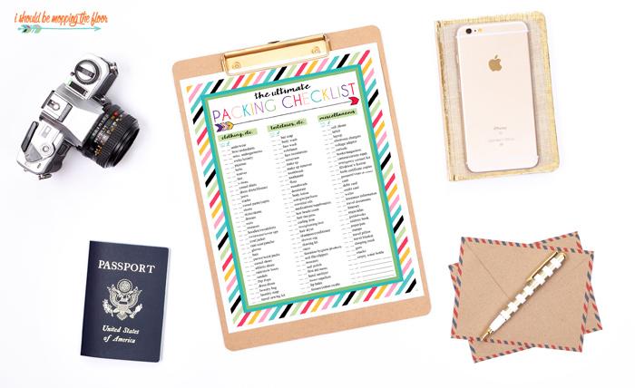 Printable Packing List PDF