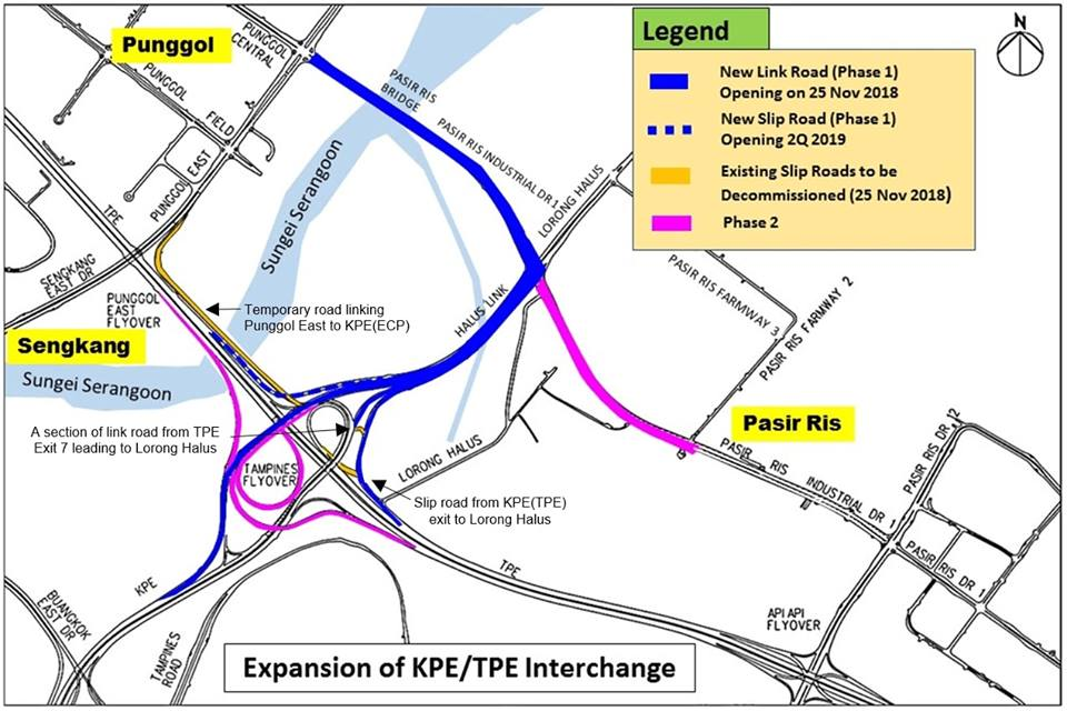 The first phase of the interchange expansion is expected to be fully completed by the second quarter of 2019, ahead of the original estimated date in the third quater of 2019, said the LTA.