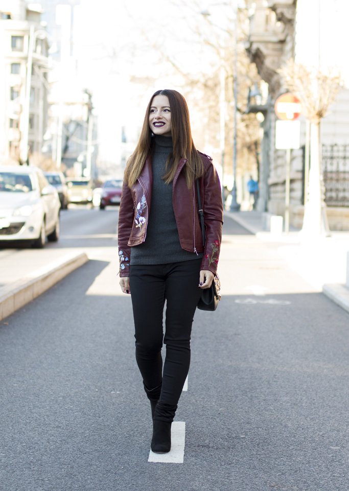 leather jacket street fashion