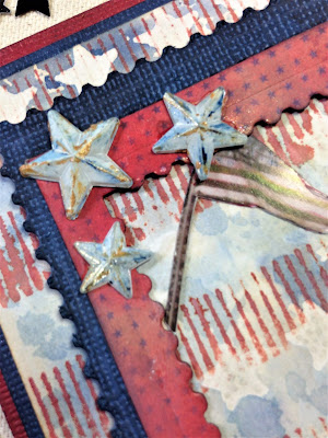 Sara Emily Barker http://sarascloset1.blogspot.com/ Celebrating the 4th! Vintage patriotic card #timholtz #timholtzideaology #timholtzrangerdistress #timholtzstampersanonymous #timholtzsizzixalterations