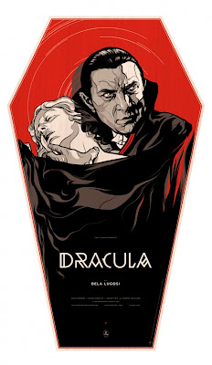 Dracula Transylvanian Coffin Wood Screen Print by Martin Ansin