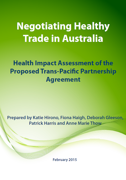 "Trading away Health: Reflections on an HIA of a trade agreement""?"
