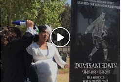 WATCH : Simphiwe Ngema visits Dumisani's grave