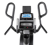 "ProForm CardioHiit's console, with 24 digital resistance levels, 32 preset programs, Bluetooth and iFit compatible, 7"" blue backlit LCD screen, speakers with MP3/iPod compatibility, cooling fan"