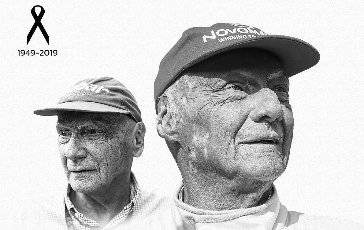 Morto Niki Lauda, ex campione Ferrari di Formula 1