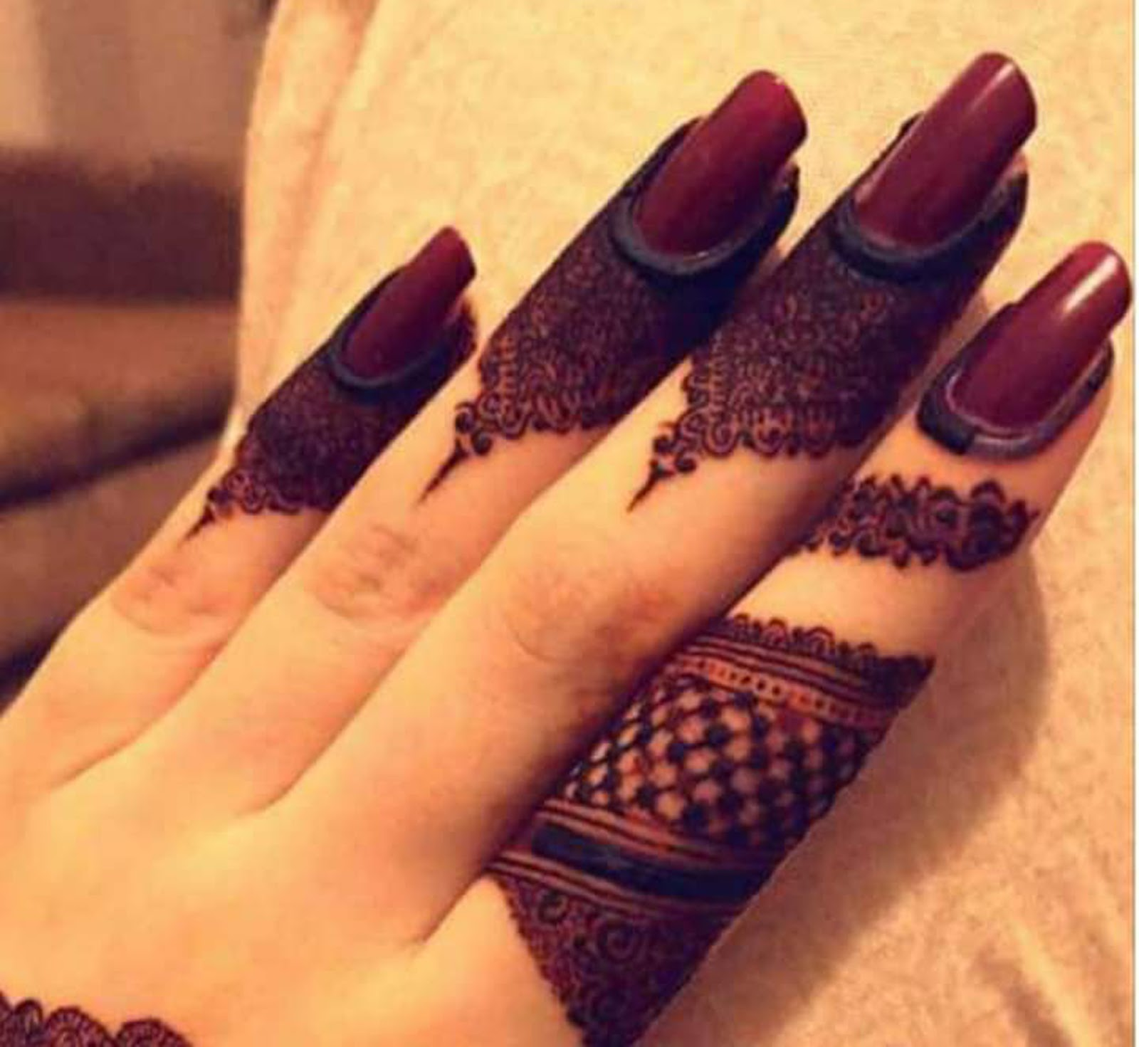 New Mehndi designs 2019 fingers designs , Fancy Fashion Points