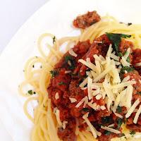 Spaghetti Bolognese with Nomato Sauce - Tomato Free Pasta Sauce Recipe for Nightshade Intolerance